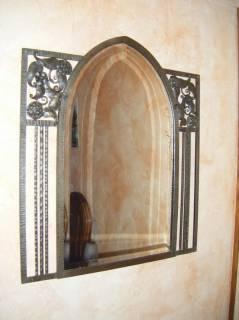 miroir avec ornements fer forg aubagne artisan ferronnier porte portail escalier marseille. Black Bedroom Furniture Sets. Home Design Ideas